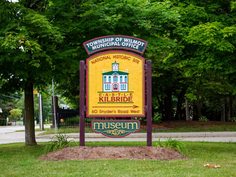 Township of Wilmot's Castle Kilbride Museum sign