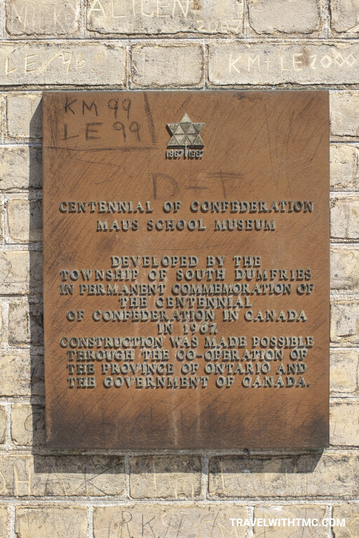 Centennial of Confederation Maus School Museum in Paris Ontario