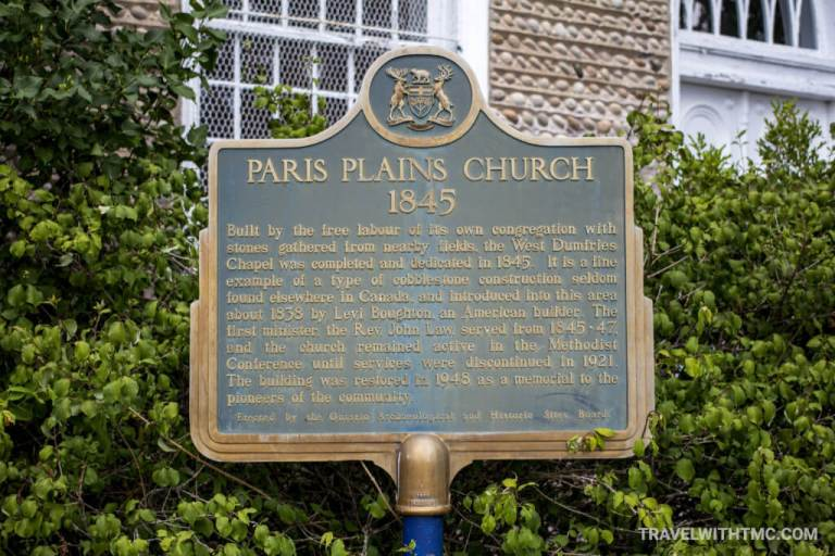 Paris Plains Church Ontario Historic Sites Plaque