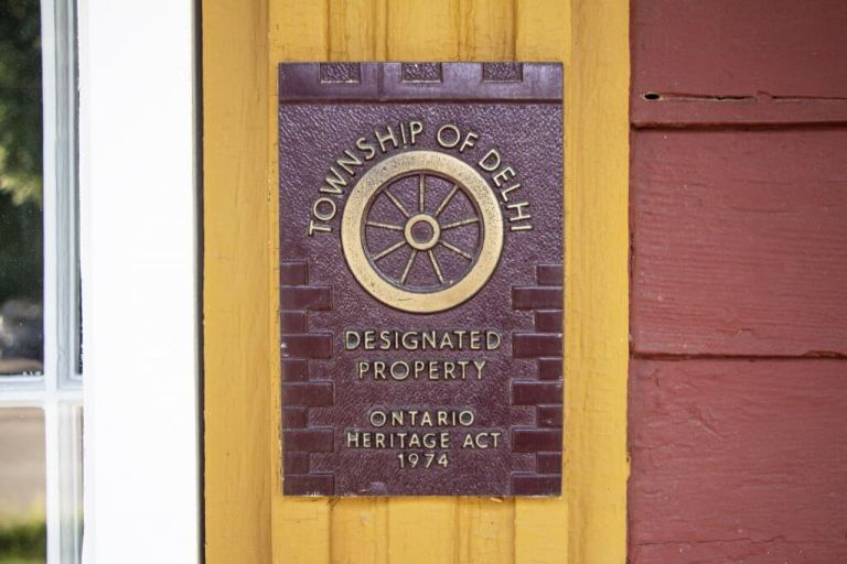 Township of Delhi Designated Ontario Heritage Property in Normandale, a former Ghost Town