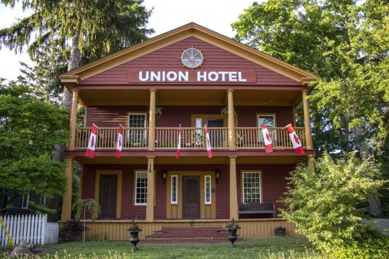 Welcome to former Ghost Town Normandale, Ontario's Historial Union Hotel on Lake Erie