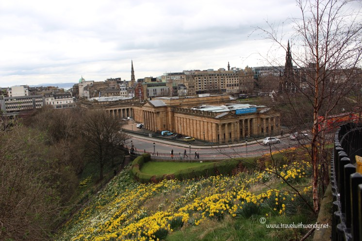 View of Edinburgh, Scotland from the hill
