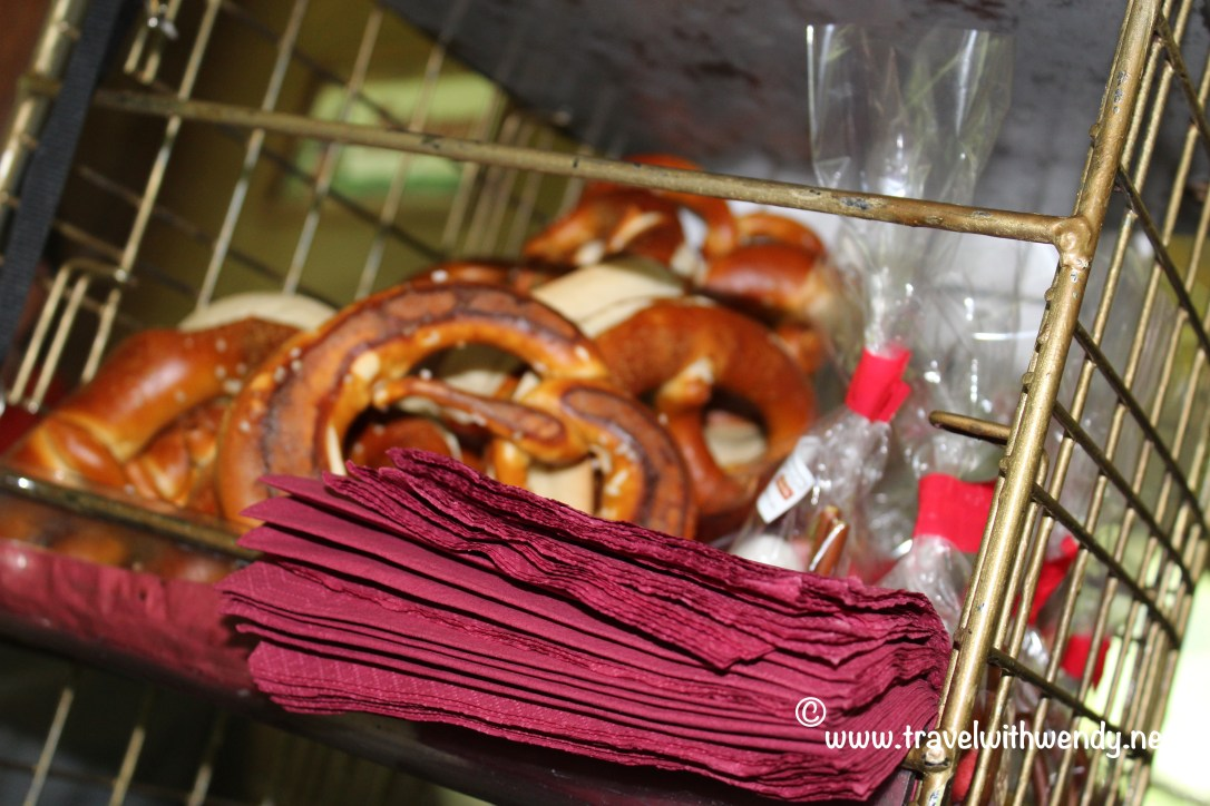 TWW - pretzels and sweets on the train