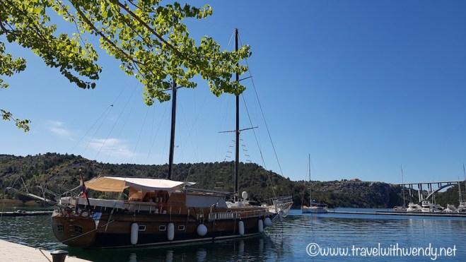 Skradin Harbor boat