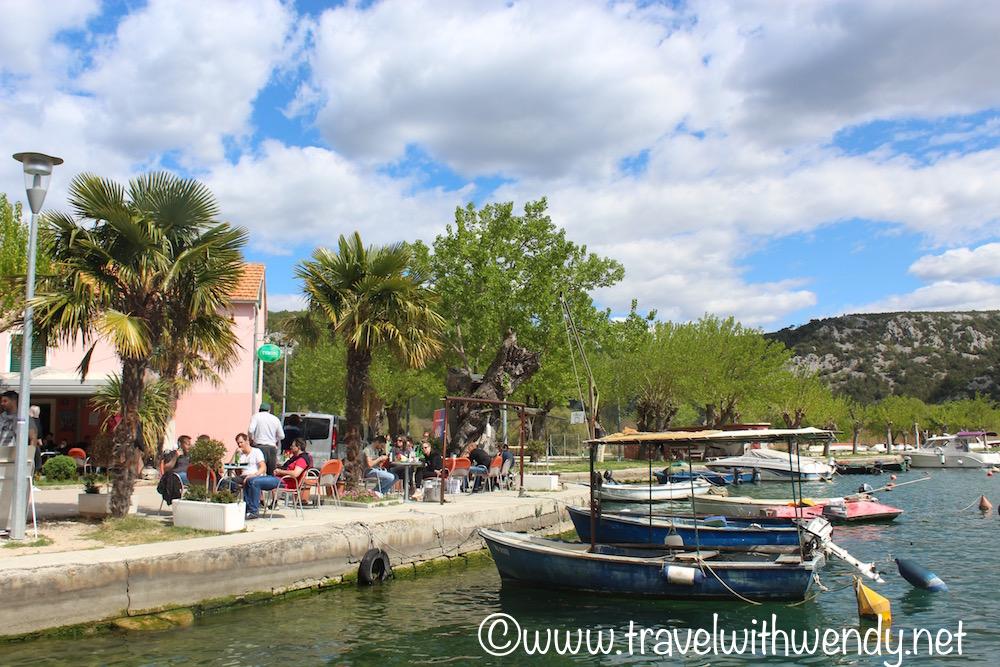 Skradin restaurants - in the harbor