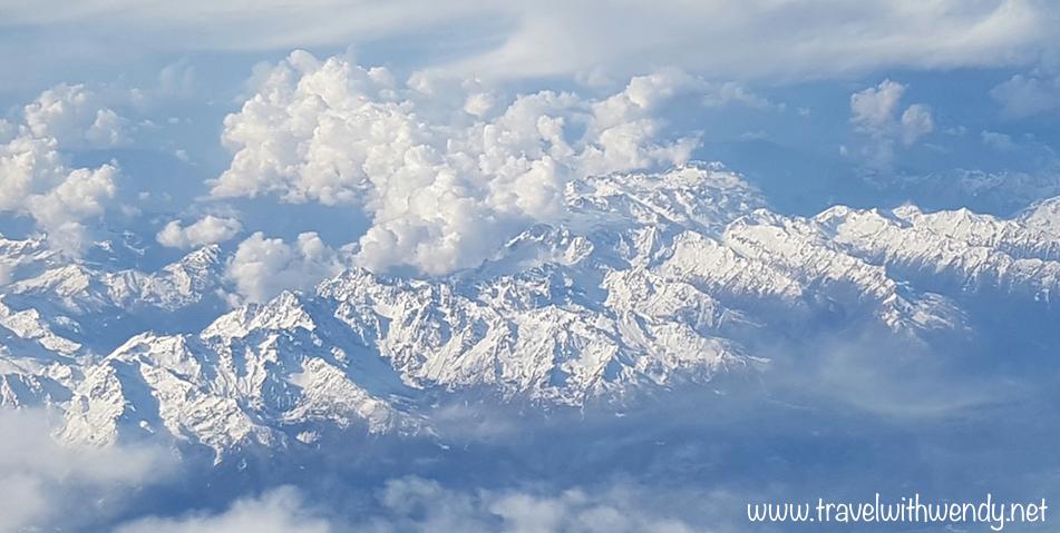 Swiss Alps flight to Croatia