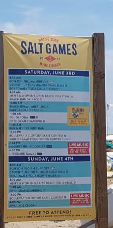 Salt Games schedule of events