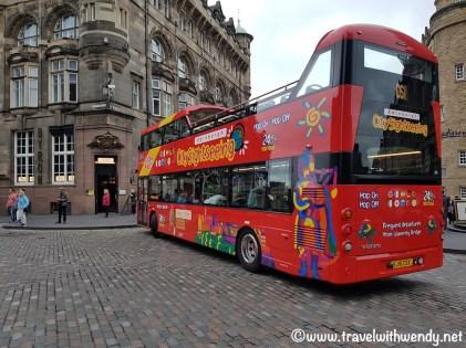 Hop on-Hop off Bus in Edinburgh, Scotland