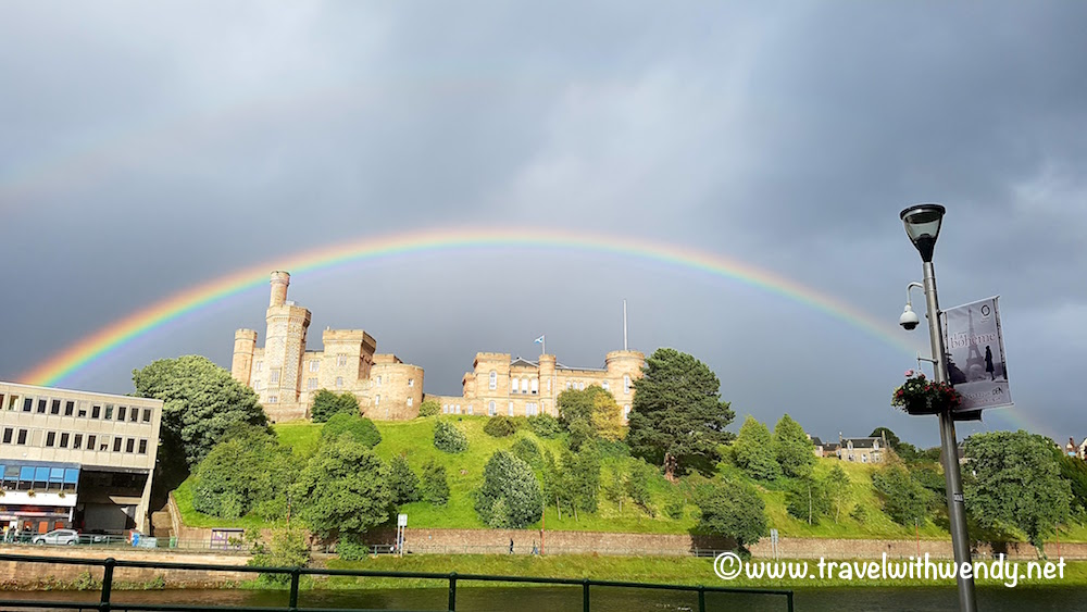 Inverness ~ Rainbow over Inverness Castle