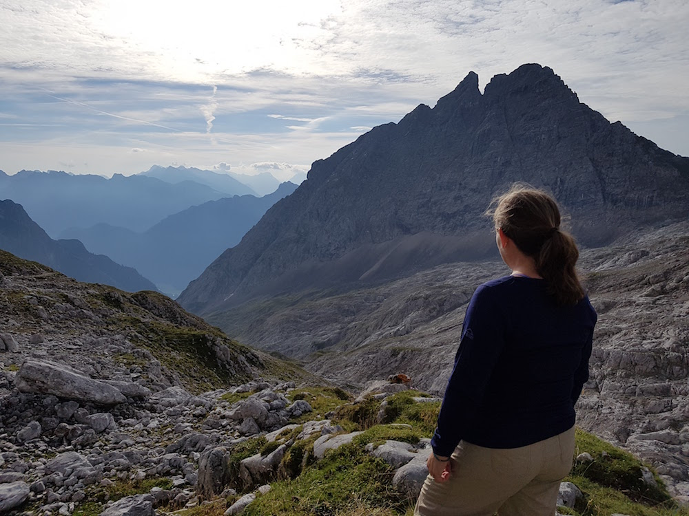 Heading down the mountain