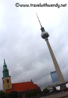 NicolaiViertel - stormy skies over Fernsehen Tower (TV Tower)