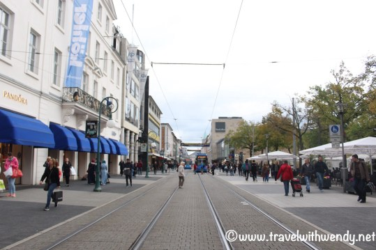 Busy streets with Trams