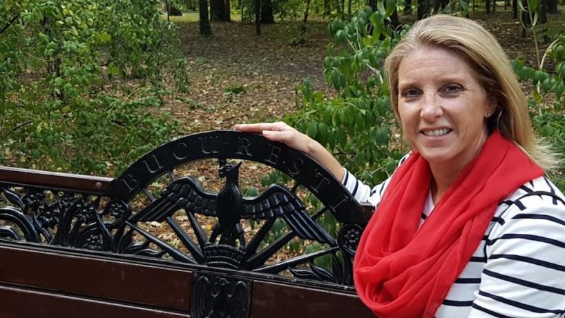 Great shot of Heather - Bucuresti benches