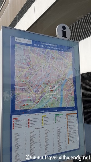 Tourist information Maps all over the inner city of Kassel