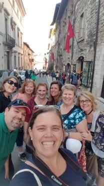 Having fun in Assisi