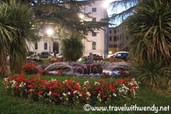 Perugian Gardens at Night