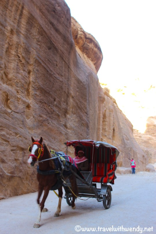 Carriages through the stone city