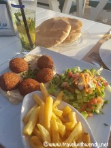 Falafel at the beach