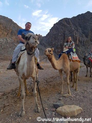 Enjoying the camel ride!