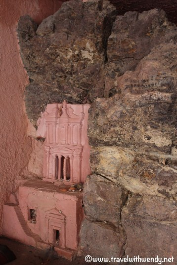 Miniature replica's of Petra in the store
