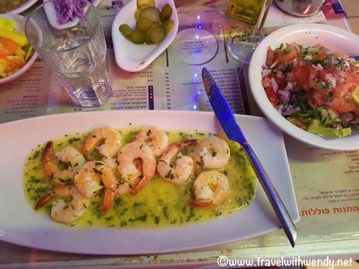 Shrimp scampi at Gulf Restaurant