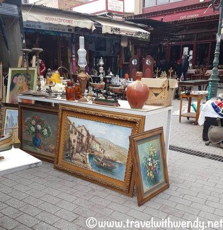 Flea market finds in Athens