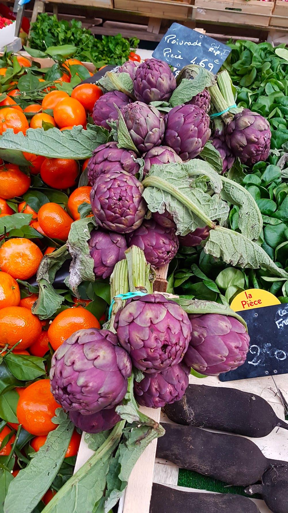 Artichokes, veggies and beets