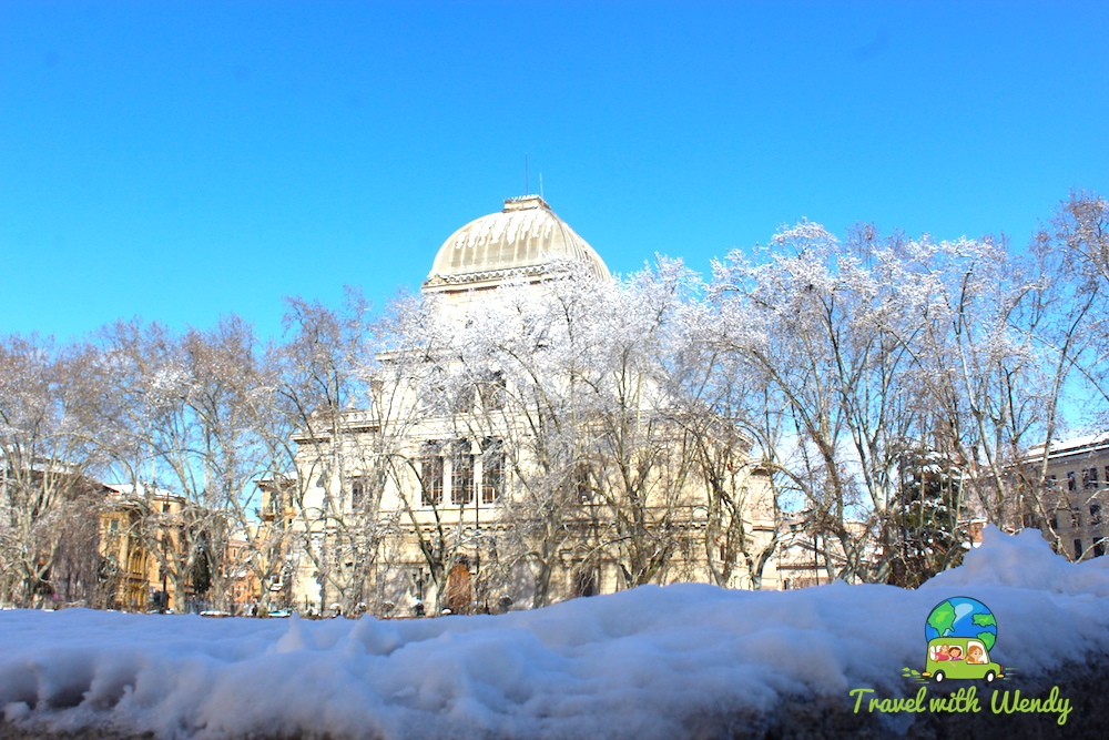 Snowy Rome bridges