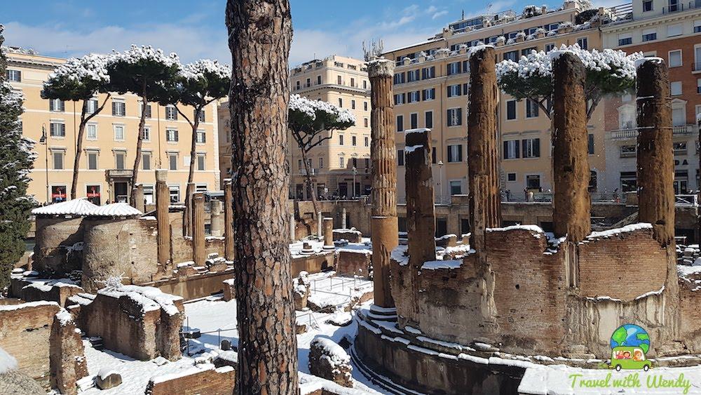 Walking around Snowy Rome