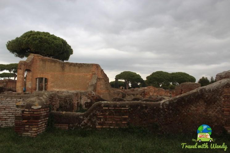 Ancient bath ruins