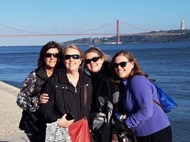 Friends together in Lisbon