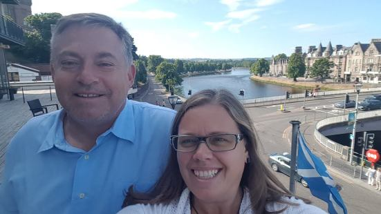 From our balcony in Inverness