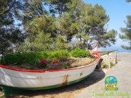 Great planter - boat in Tossa del Mar - Costa Brava