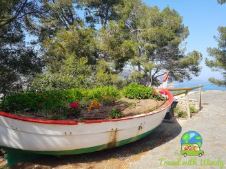 Great planter - boat in Tossa del Mar