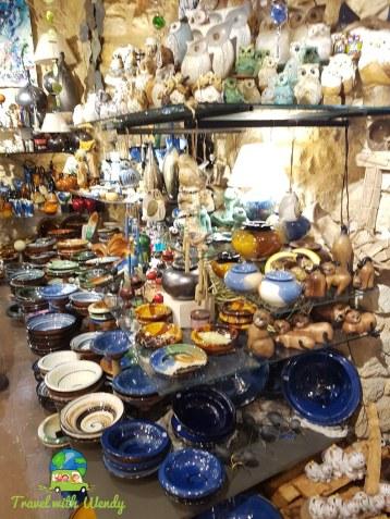 Pottery shops galore