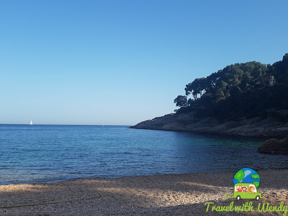 Quiet beach at Tamariu - April