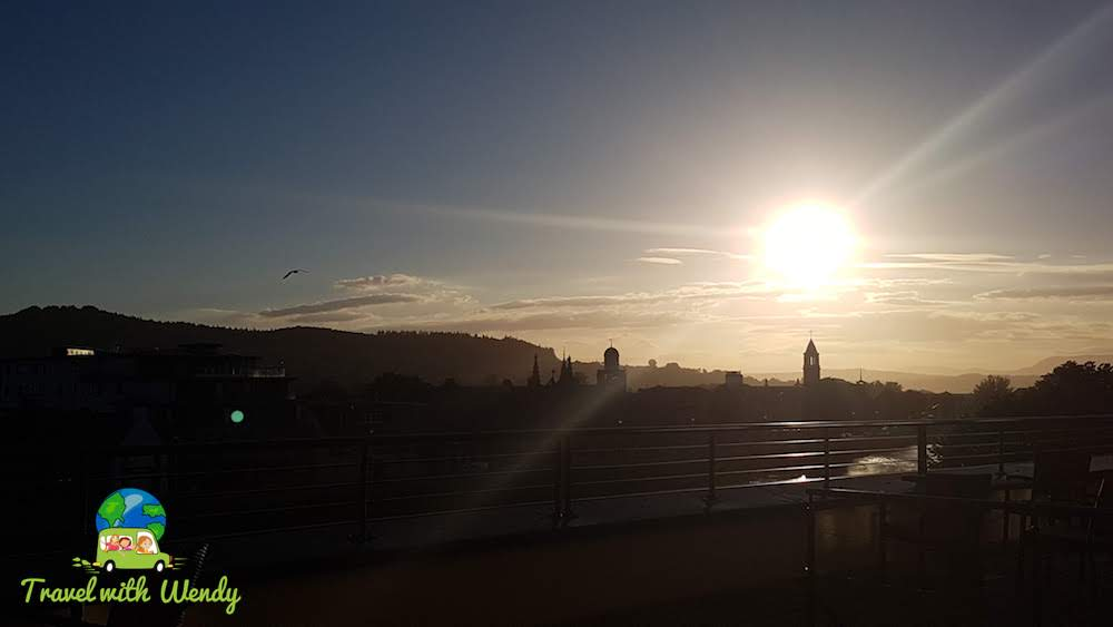 Sunset from our balcony - Inverness