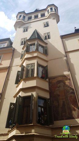Italy - Beautiful buildings of Bolzano