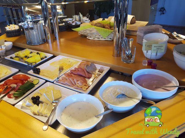 Plentiful breakfast - Hotel Kristall