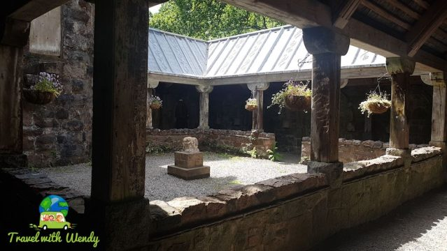 Scotland - Courtyard at St. Conan's Kirk
