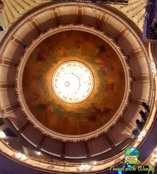 Ceiling of Chicago theatre - LONDON