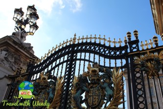 Gates at Buckingham Palace - London