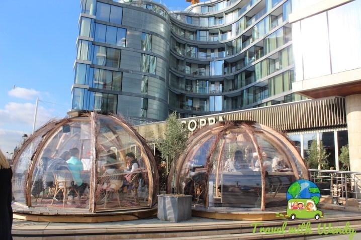 Weird Coppa restaurant in London