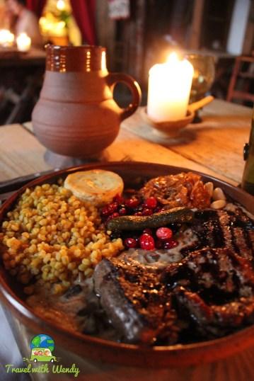 Yummy food at Olde Hansa