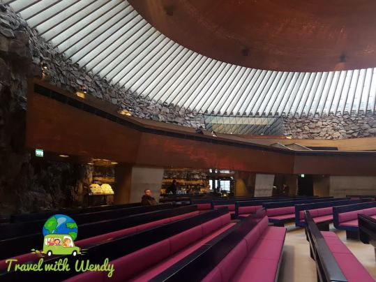 Interior Rock Church - Helsinki