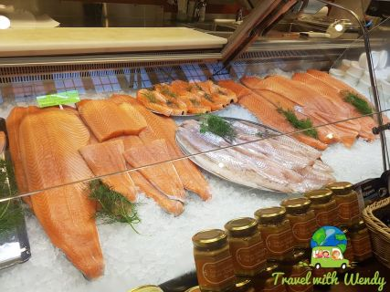 Salmon in the fish market