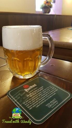 Sample beer - boy its small - Pilsen, Czech Republic