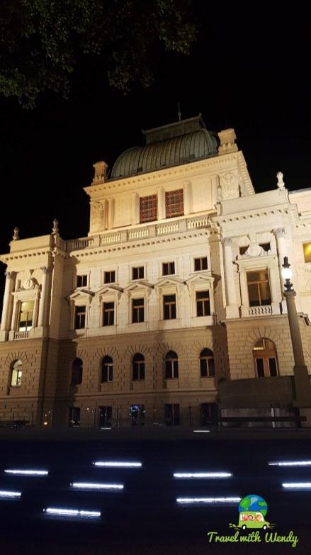 Walking Pilsen at night - Czech Republic