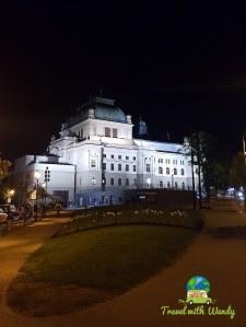 Walking around Pilsen at night