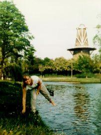 Posing at Keukenhof - 1988